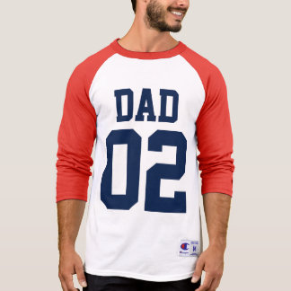 Dad Custom Number Father's Day Sports Jersey T-Shirt