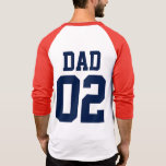 Dad Custom Number Father's Day Sports Jersey Tee Shirt
