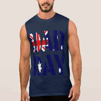DAD DAY Australia Happy Father's day! Sleeveless Tees