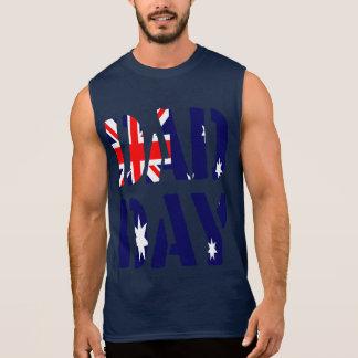 DAD DAY Australia Happy Father's day! Sleeveless Tees