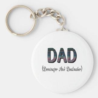Dad Dominator And Dealmaker Key Ring