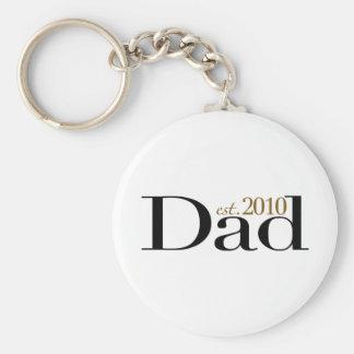 Dad Est 2010 Keychains