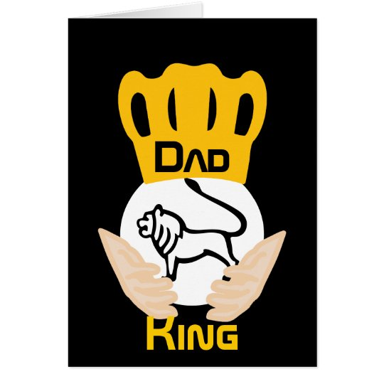 Dad Family Lion King-Customise Card