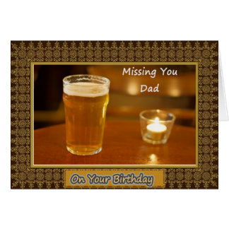 Dad/Father Birthday - Deceased Greeting Card