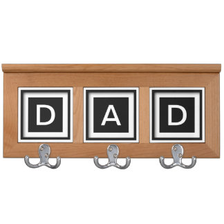 Dad Father Daddy Gift Idea Coatrack Jacket Hooks Coat Racks