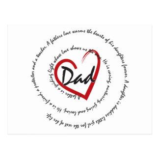 Dad - Fatherly Love Postcard