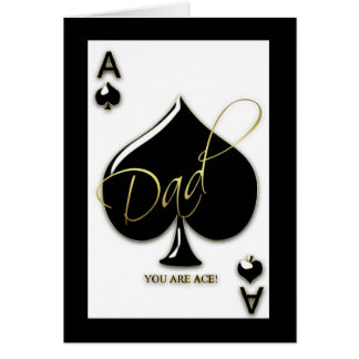 Dad Father's Day Card With Ace Of Spades