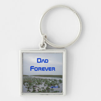 Dad Forever Square Keychain