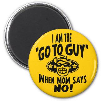 Dad Go To Guy 6 Cm Round Magnet