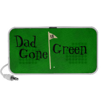 Dad gone green, go green travel speakers