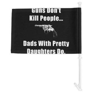 Dad Gun Car Flag