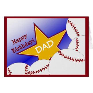 Dad - Happy Birthday Baseball Loving Dad! Greeting Card