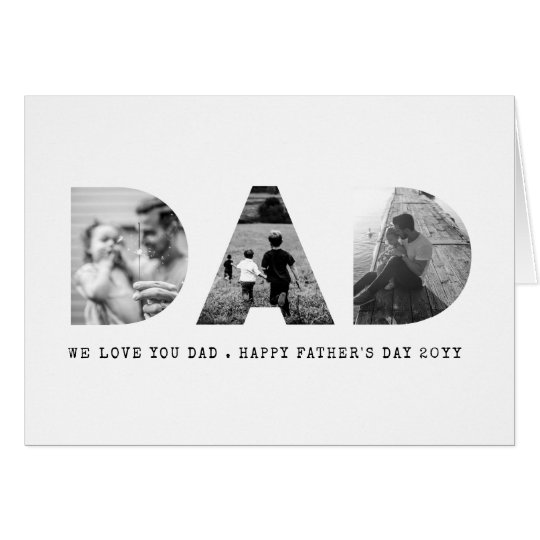 DAD Happy Fathers Day Photo Card