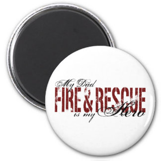 Dad Hero - Fire & Rescue Magnet