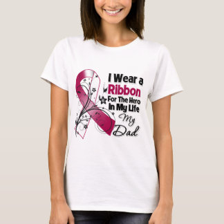 Dad Hero in My Life Head Neck Cancer T-Shirt