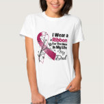Dad Hero in My Life Head Neck Cancer Tee Shirt