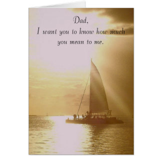 Dad how much you mean to me card