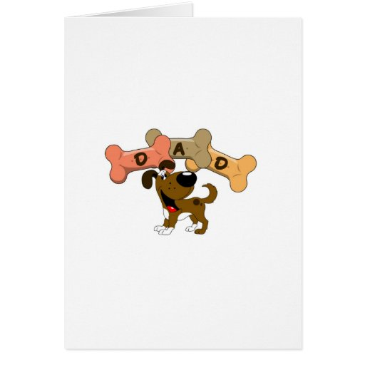 Dad in Dog Treats Greeting Cards