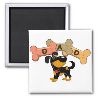 Dad in Dog Treats Square Magnet