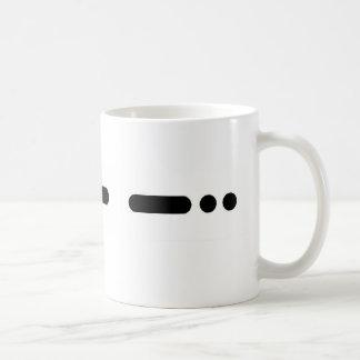 """DAD"" in Morse Code Mug  by Brownielocks"