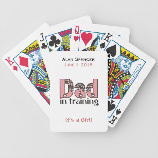Dad in Training Playing Cards