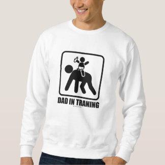 Dad in training sweatshirt