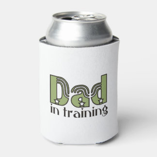 Dad in Training Typography Can Cooler