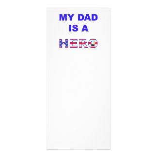 Dad is a Hero Rack Card