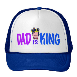 Dad Is King Mesh Hats