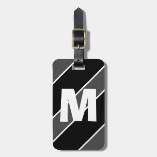 Dad Lib Black Monogrammed Travel Bag Tag