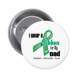 Dad - Liver Cancer Ribbon 6 Cm Round Badge