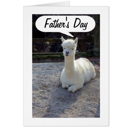 DAD-LLAMA says HAPPY FATHERS DAY=AWESOME DAD Card
