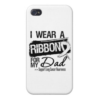 Dad Lung Cancer Ribbon iPhone 4 Cases