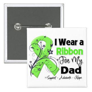 Dad - Lymphoma Ribbon 15 Cm Square Badge