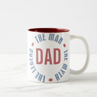 Dad Man Myth Legend Customizable Two-Tone Coffee Mug