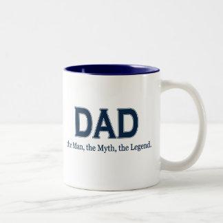Dad Man Myth Legend Two-Tone Mug