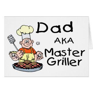 Dad Master Griller Greeting Card