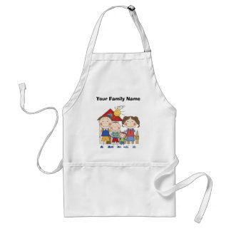 Dad, Mom, Big Brother, Little Brother Family Standard Apron