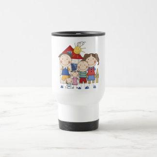 Dad Mom Boy Girl Baby Boy Family Coffee Mugs