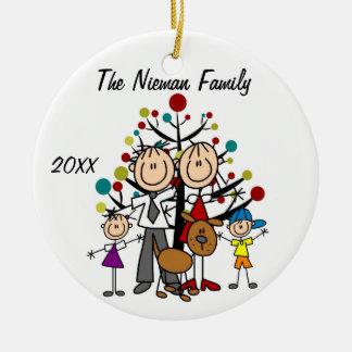 Dad, Mom, Boy, Girl, Dog Custom Holiday Ornament