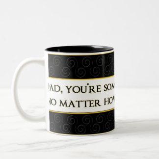 Dad,- Mug - Black White