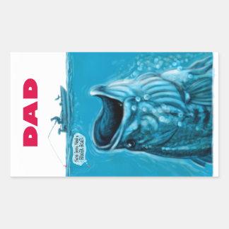 Dad Needs a Bigger Bass Fishing Boat Rectangular Sticker