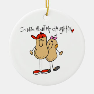 Dad - Nuts About My Daughter T-shirts and Gifts Christmas Ornament