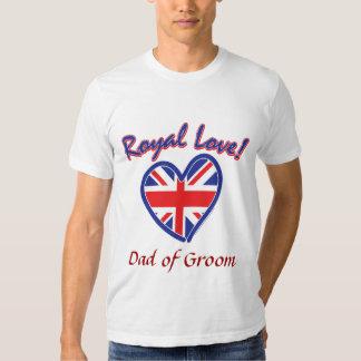 Dad of Groom Royal Wedding Tee Shirt