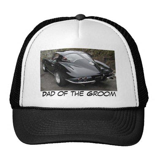 Dad of the Groom Corvette Trucker Hats
