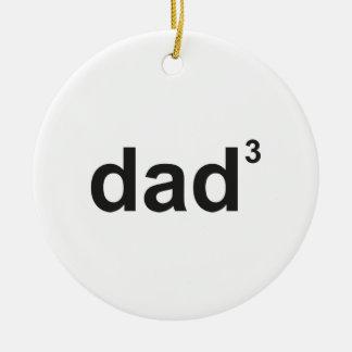 Dad Of Three Round Ceramic Decoration