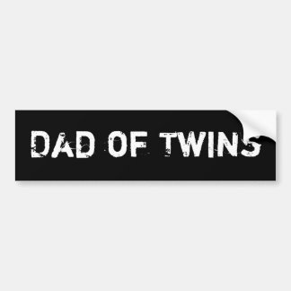 Dad of Twins Bumper Sticker