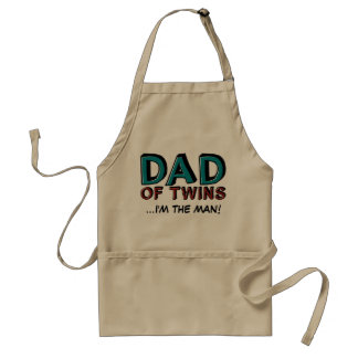 Dad of Twins...I'm the man! Adult Apron