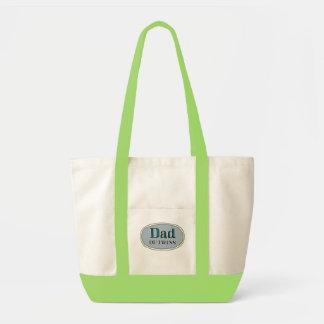 Dad of Twins Impulse Tote Bag