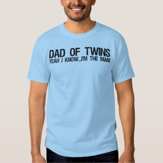Dad of twins t-shirts